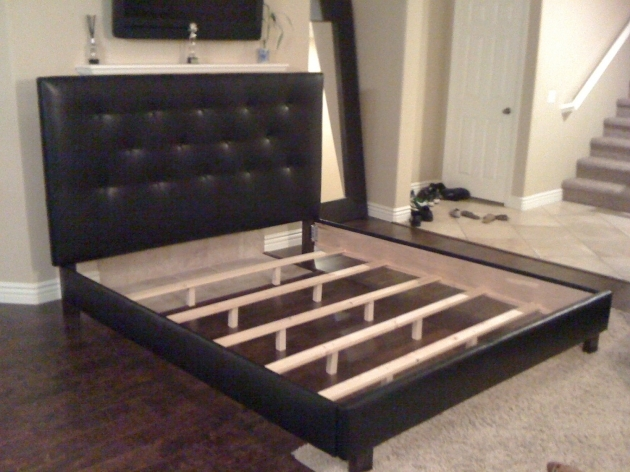 Bed Frame With Headboard Homemade Leather Upholstered California King Platform Bed Frame And Tufted Headboard Photo 68