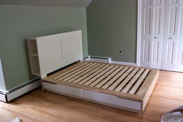 Bed Frame With Headboard Ikea Storage Headboard Ideas Photo 27