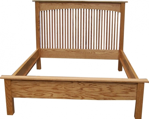 Bed Frame With Headboard Remodeling Unstained Hickory Hardwood Queen Bed Frame With Banister Headboard Image 78