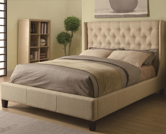 Bed Frame With Headboard Upholstered King Size Bed Frame With Button Tufted Headboard Picture 64