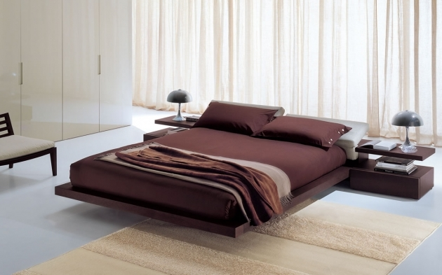 Bed Without Headboard Modern Bedroom Design With Floating King Size Low Profile Bed With Image 26