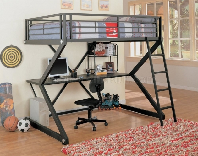 Bunk Bed With Desk Combo Twin Loft Bed For Modern Bedroom Images 24