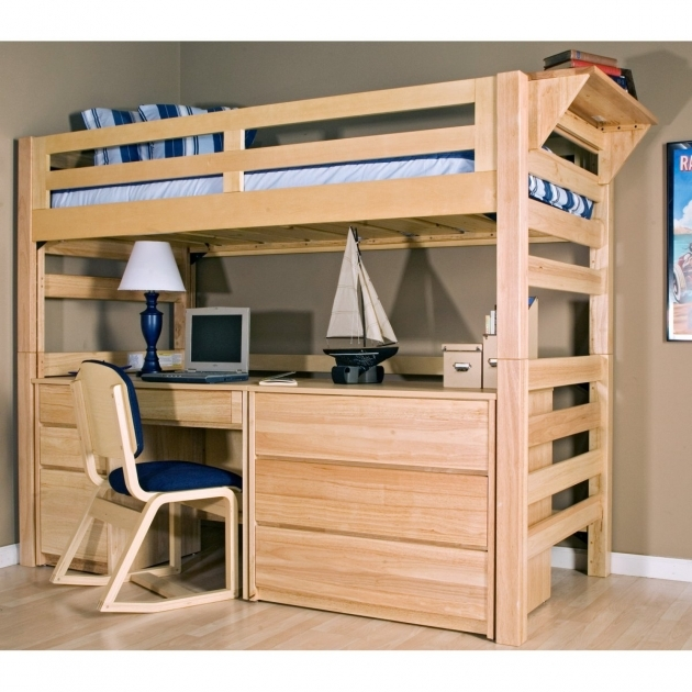 Bunk Bed With Desk Design Ideas Pics 13