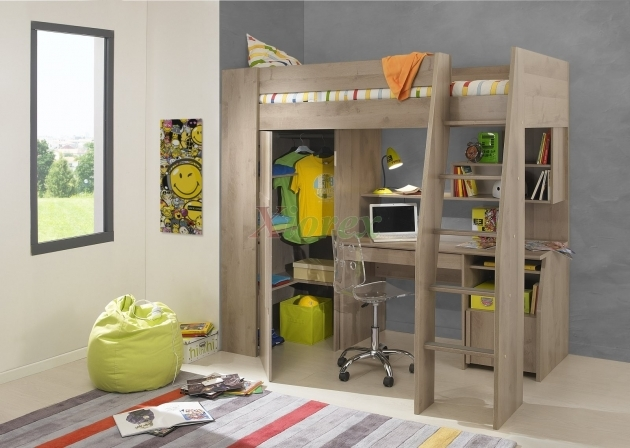 Bunk Bed With Desk Timber Kids Loft Bunk Beds Pics 49