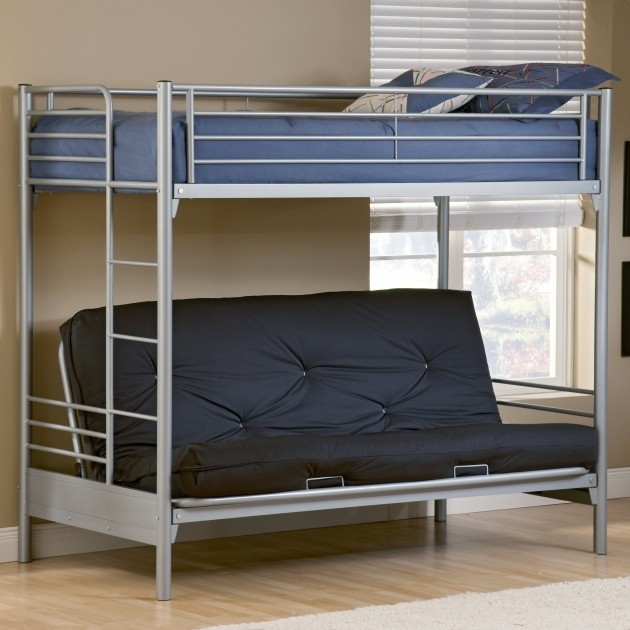 Futon Bunk Bed Duro Wesley Twin Over Silver Bunk Beds Pics 13