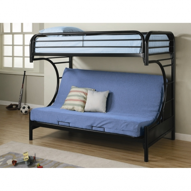 Futon Bunk Bed Fall Creek C Style Twin In Black  Pic 91