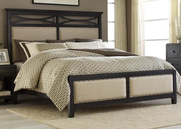 King Upholstered Headboard And Footboard  Photos 13