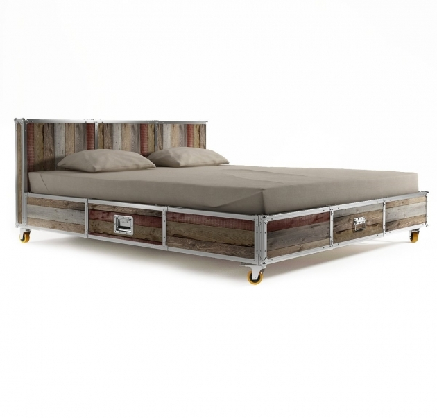 Platform Bed With Storage King Plans Pictures 44