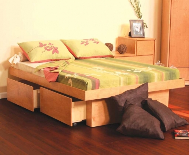 Platform Bed With Storage Queen With Storage Drawers  Images 51