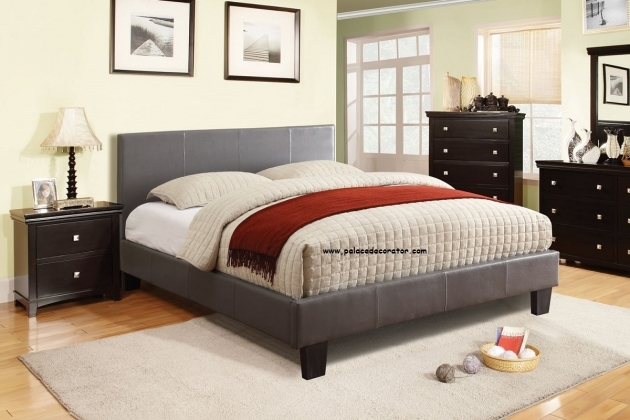 Queen Size Bed Frame Cm7008gy Winn Park Gray Finish Platform Bed Frames Photos 55