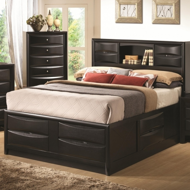 Queen Size Bed Frame With Storage Modern Design Photo 62