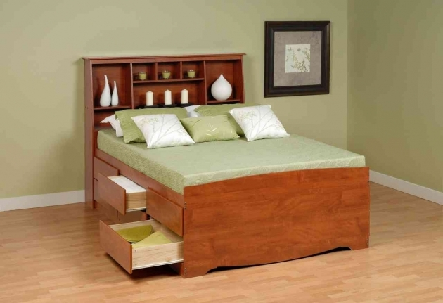 Queen Size Bed Frame With Storage Plan Pics 52