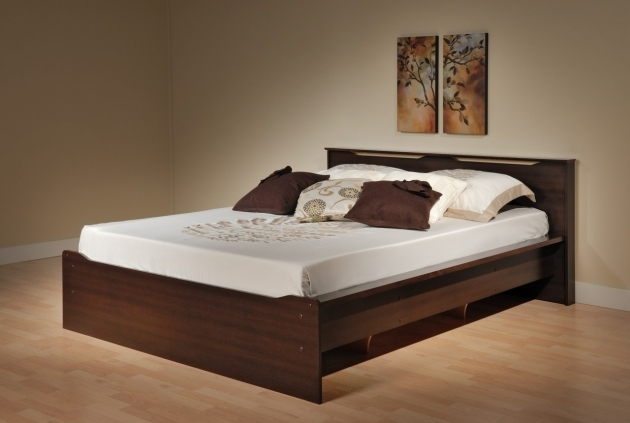 Queen Size Bed Frame With Storage Wooden Low Profile Pictures 02