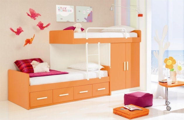Toddler Bunk Beds Bright Modern Kids Set Idea Photo 82