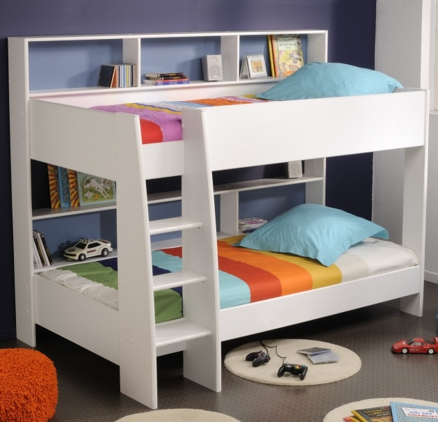 Toddler Bunk Beds With Stairs Furniture Shared Kids Room Design Idea White Pics 60