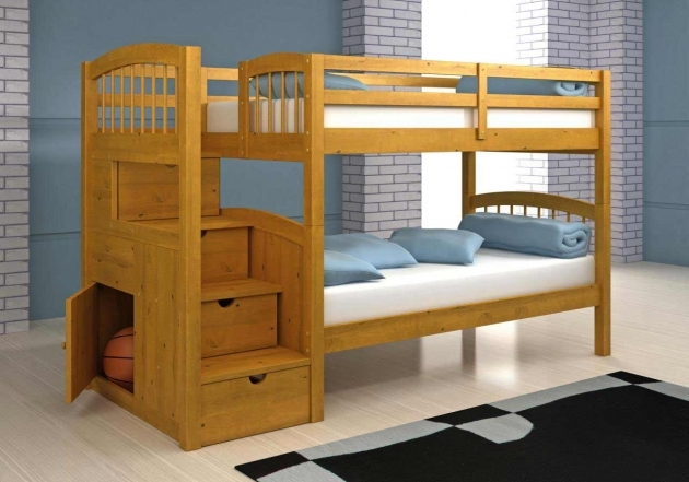 Toddler Bunk Beds Wooden With Stairs Drawers And Grey Black Rug Pictures 37