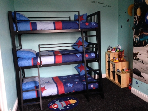 Triple Bunk Bed Furniture Design Ideas Photos 91