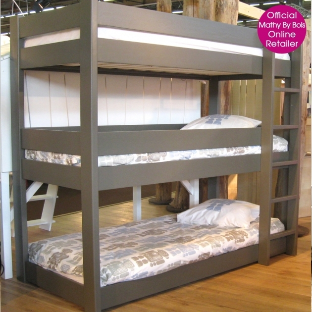 Triple Bunk Bed Homelegance Sanibel Piece Bunk Bed Kids Bedroom Set In Grey Pics 17