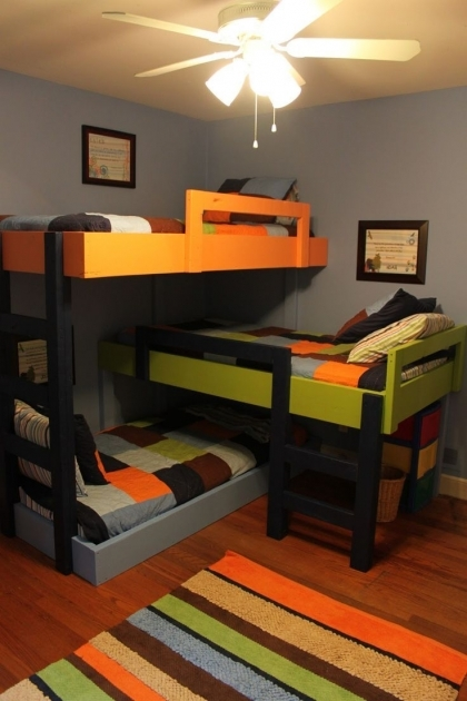 Triple Bunk Bed Ideas Photos 49