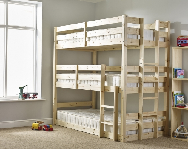 Triple Bunk Bed Pandora 3ft Single 3 Tier Heavy Duty Solid Pine High Triple Photos 96