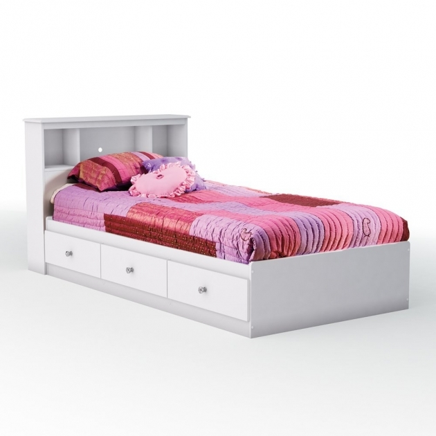 Twin Bed With Storage White Furniture Photos 74
