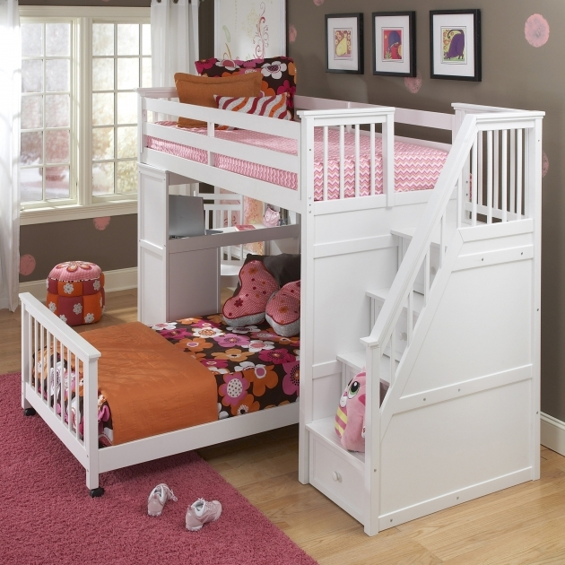 Twin Over Full Bunk Bed White Images 60