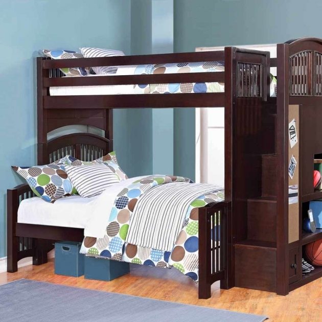Twin Over Full Bunk Bed With Stair Pictures 84