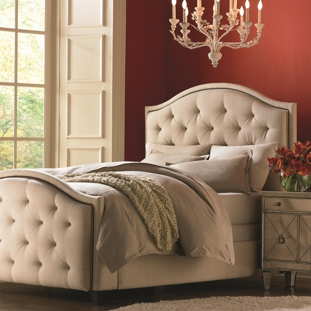 Upholstered Headboard Queen Bassett Custom Vienna Image 18