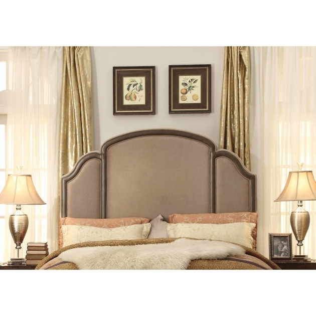 Upholstered Headboard Queen Ricca Mocha Image 25 Bed