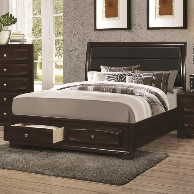 Upholstered Headboard Queen Stylish Bed Design Image 49