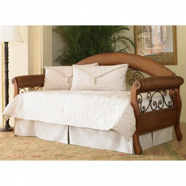 Bedding For Daybeds With Brown Bed Frame Combine With White Cover And Pillows Images 93