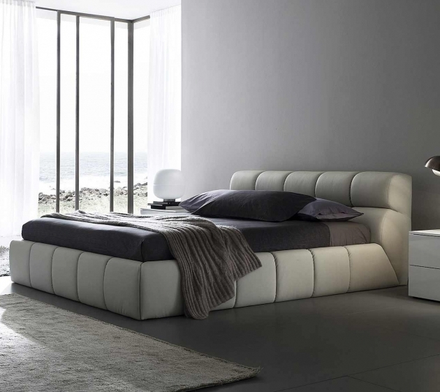 Best Mattress For Platform Bed Rectangle White Leather Tufted Bed Frames With Headboard Image 85