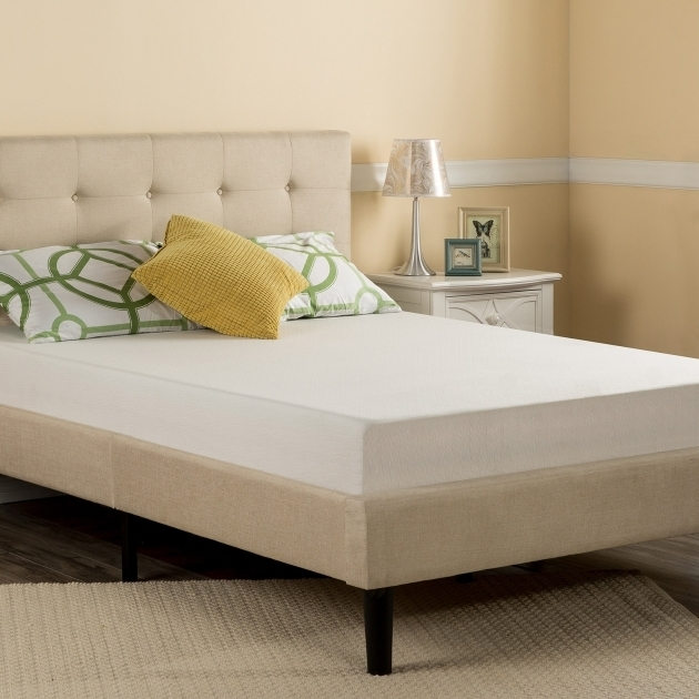 Best Mattress For Platform Bed With Beige Padded Headboard Bed And Memory White Foam Mattress Set Photos 75