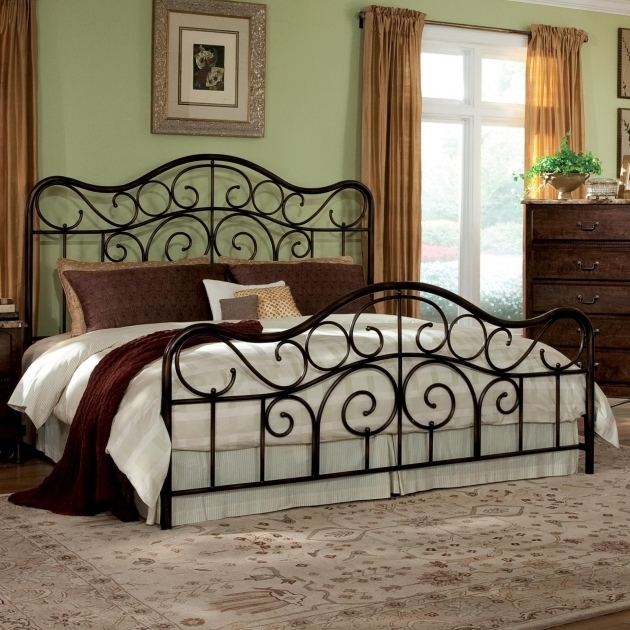 Black King Metal Bed Frame Headboard Footboard Picture 23