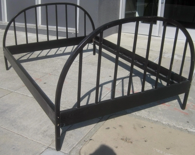 Black Metal Full Size Bed Frame And Arched Full Size Headboard And Footboard Sets Picture 33