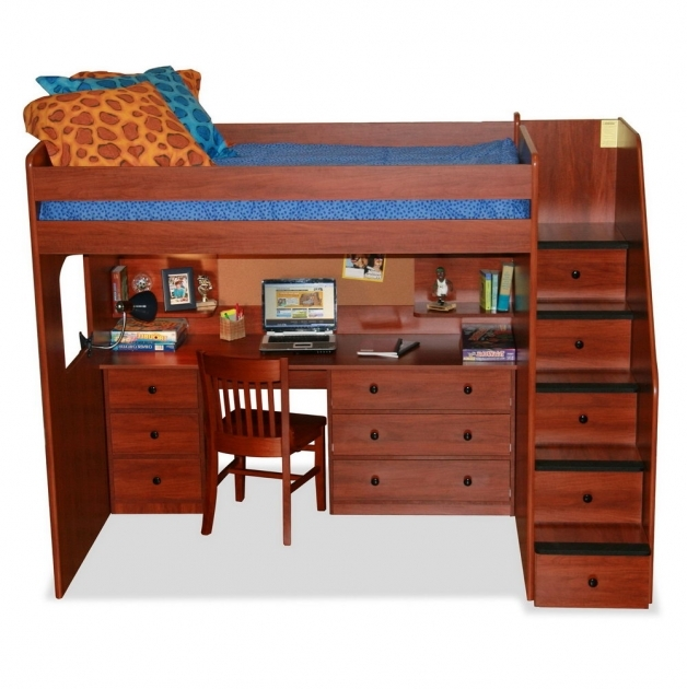 Bunk Beds With Stairs And Storage Also Desk Photo 42