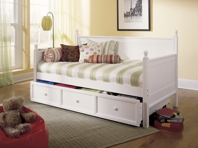 Casey Twin Daybed With Trundle White Pictures 29