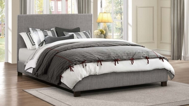 Chasin Grey Upholstered Platform Bed Photo 17