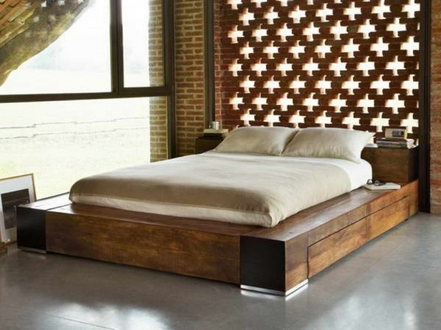 impressive wood bed frame king