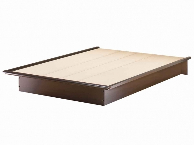 Cheap Platform Bed Frame Queen South Shore Chocolate Step One Contemporary Photos 70
