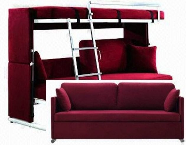 Couch That Turns Into A Bunk Bed Red Photo 62