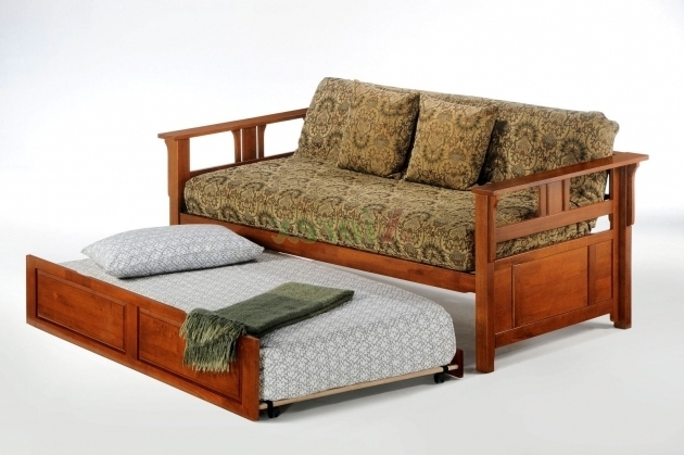 Daybed With Trundle Bed Sofa Picture 04