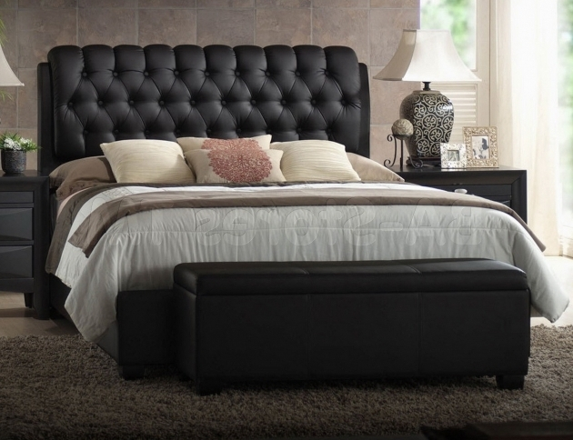 Fresh Tufted Upholstered Headboard And Footboard Set Photos 43
