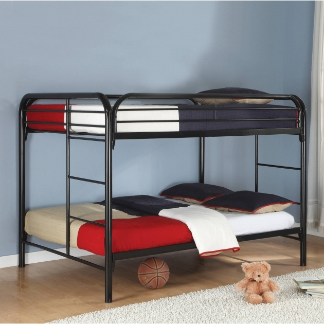 Full Over Full Bunk Beds Coaster Rustic Black Metal Photo 10