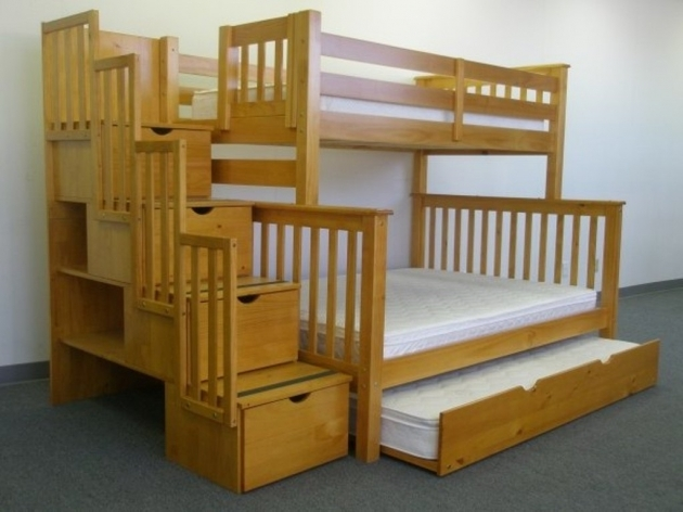 Full Over Full Bunk Beds With Drawer Design Ideas Pics 60