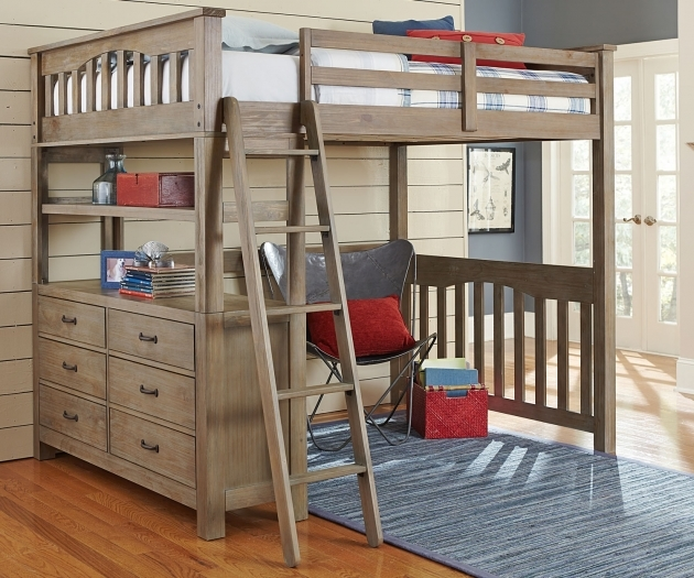 Full Size Bunk Beds With Desk Underneath Full Size Loft Bed With Desk Pics 88