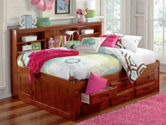 Full Size Headboard With Shelves Ideas Modern Storage Photo 21