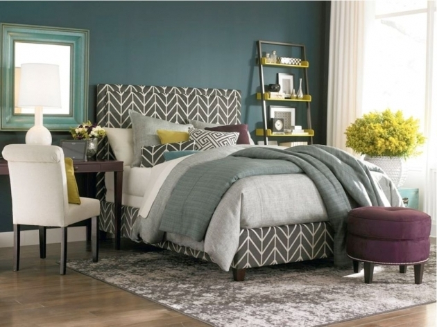 Gray Upholstered Headboard And Footboard Set Photo 51