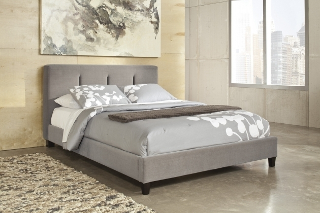 Grey Upholstered Platform Bed Traditional Varnished Pine Wood Bed Frame With Decorative Twin Headboards Photos 62