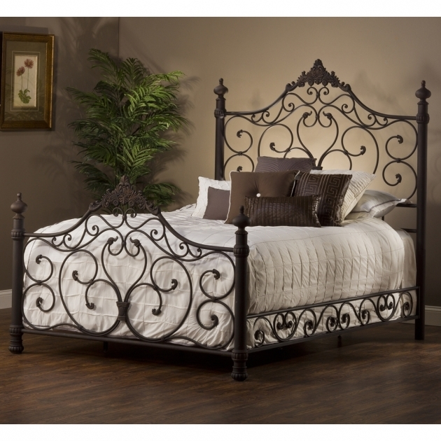 King Metal Bed Frame Headboard Footboard Photo 12